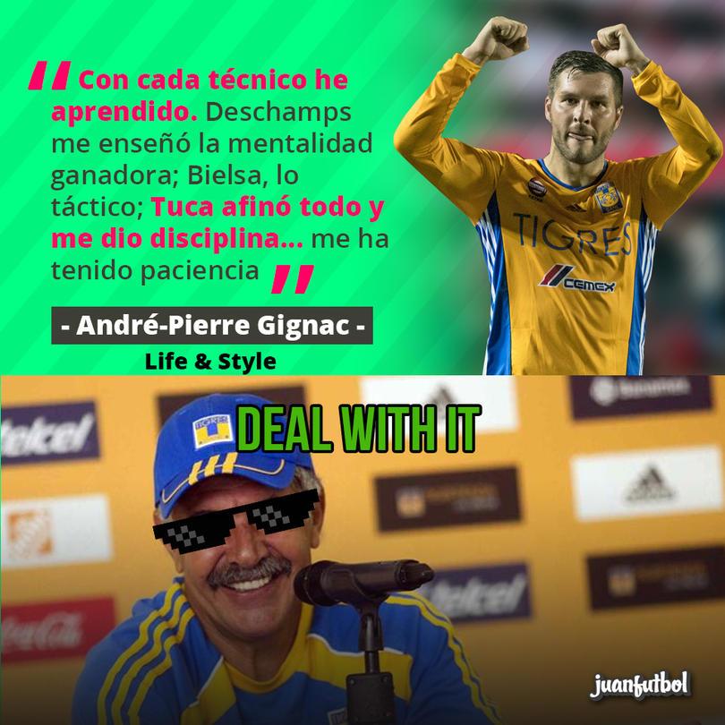 André-Pierre Gignac dijo que el Tuca le dio disciplina y le ha tenido paciencia