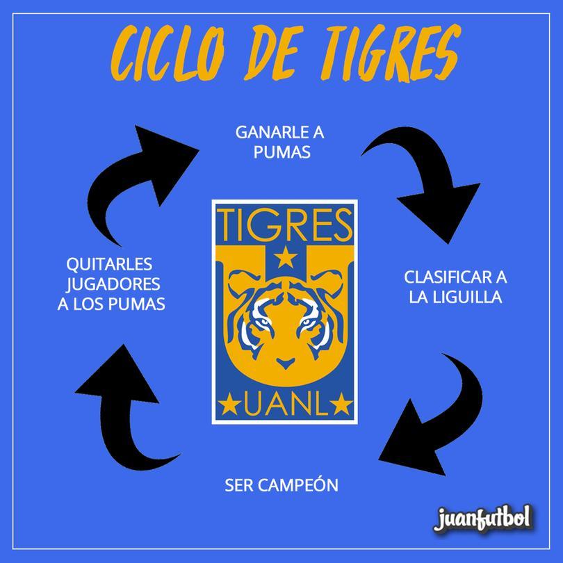 Ciclo de Tigres, con Pumas.