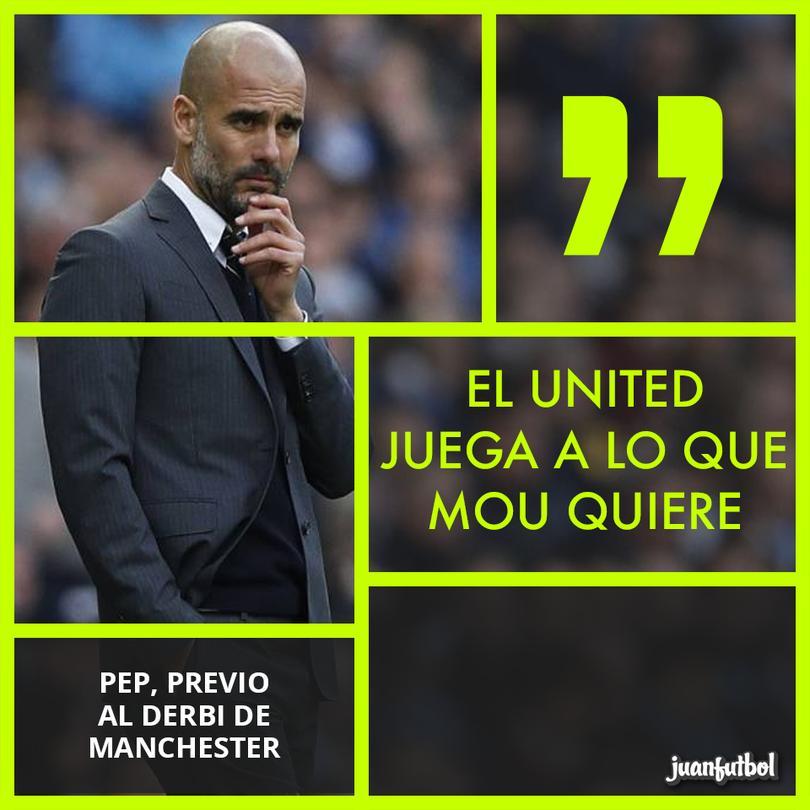 Pep le reconoce a Mou su buen trabajo con el United