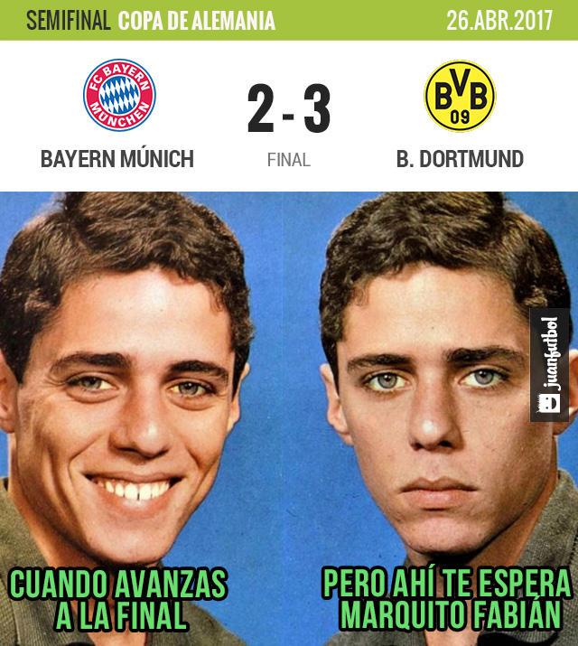 Borussia Dortmund venció al Bayern Múnich y enfrentará al Frankfurt en la final de la Pokal