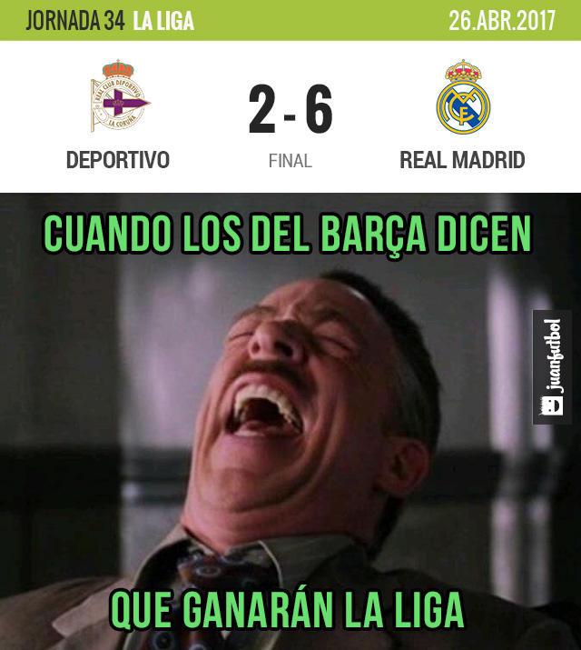 Real Madrid dio una paliza al Deportivo, alcanzó al Barcelona y tiene un partido pendiente