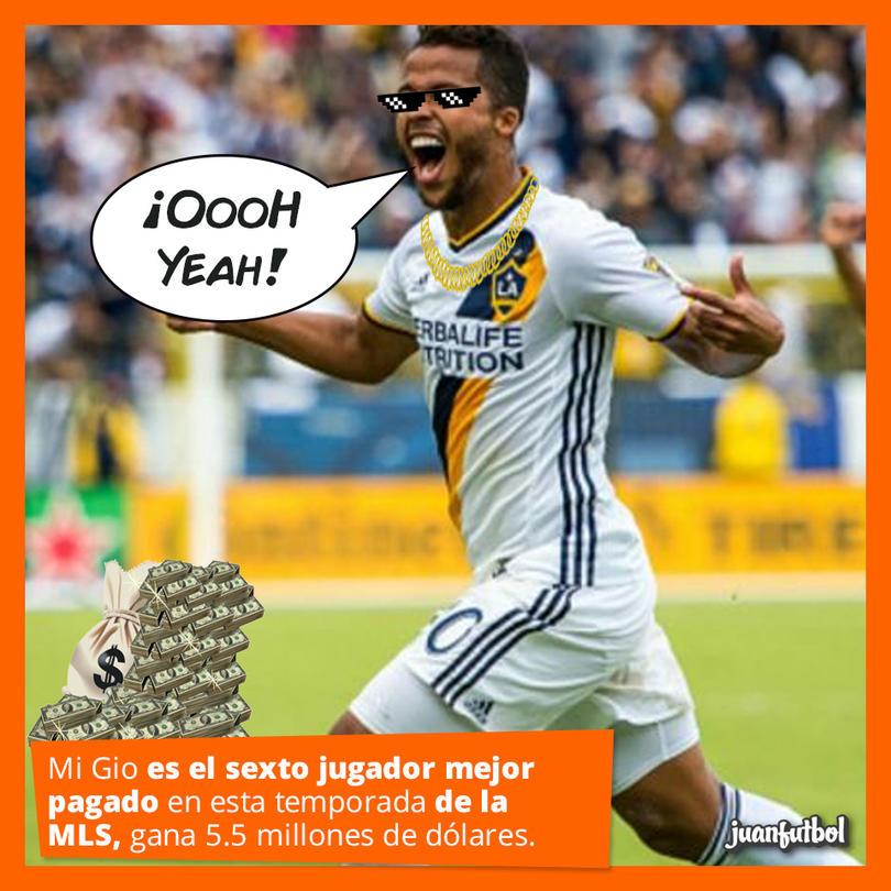 Gio, jugador del LA Galaxy