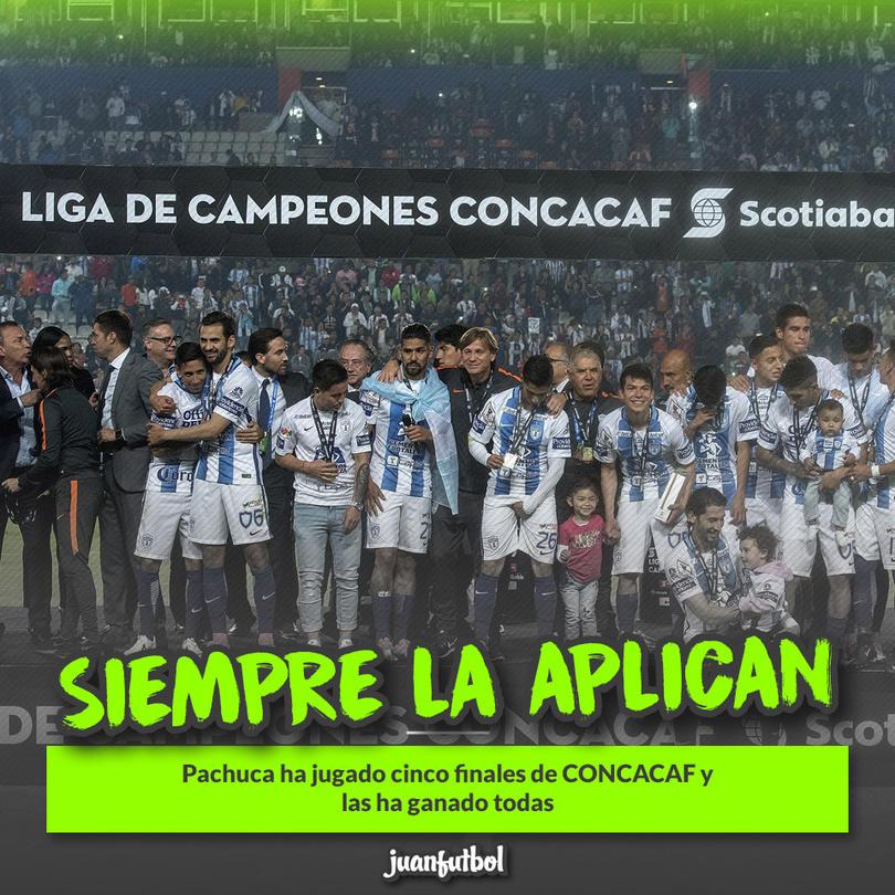Pachuca ha ganado todas las finales de CONCACAF que ha jugado