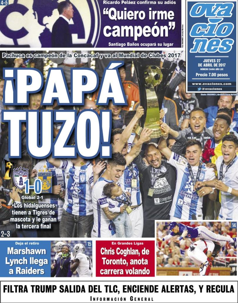 La prensa deportiva del día 27 de abril del 2017.