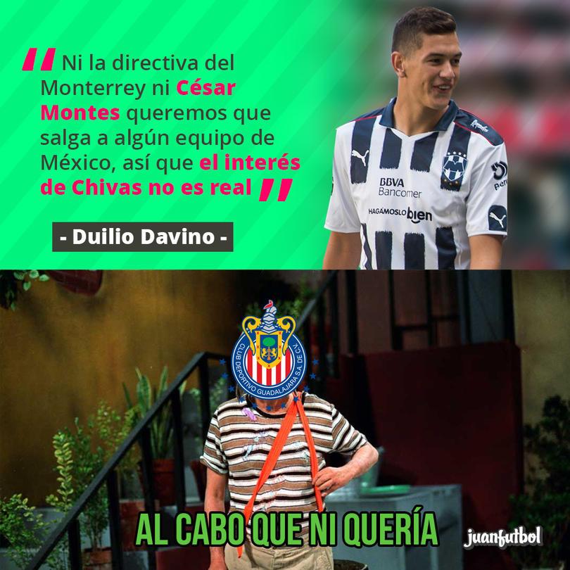 Duilio Davino rechazó que Monterrey deje ir a Montes