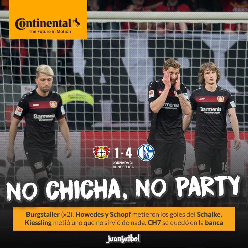 Sin Chicharito, Leverkusen anda muy mal