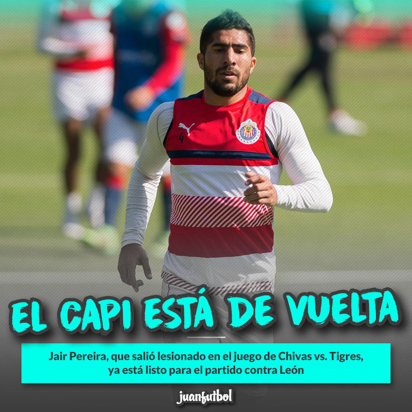 Jair Pereira ya está disponible para Chivas