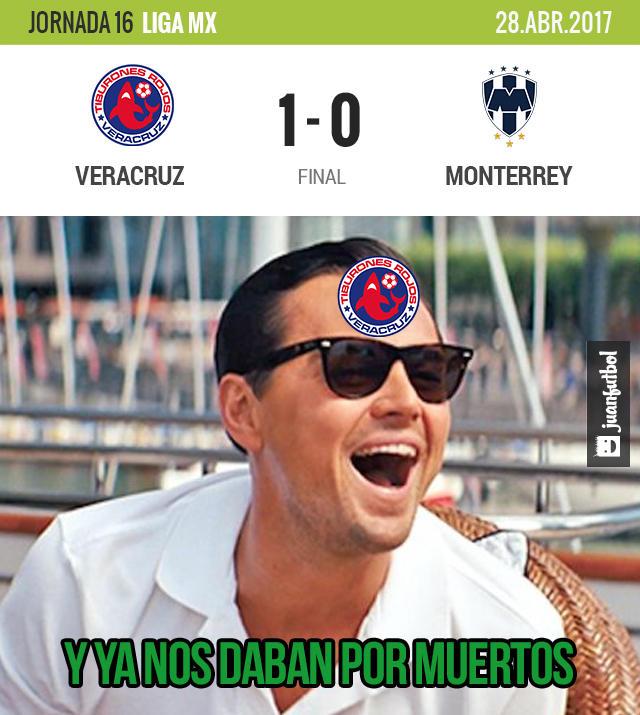 Veracruz venció 1-0 a Monterrey y está cerca de la salvación