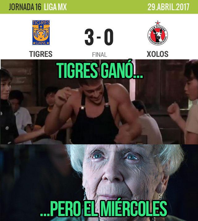 Goleada la de Tigres contra Xolos