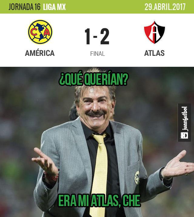 América cayó con Atlas en el Azteca