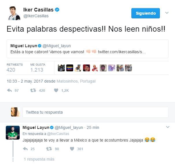 Casillas regaña a Layún por grosero.