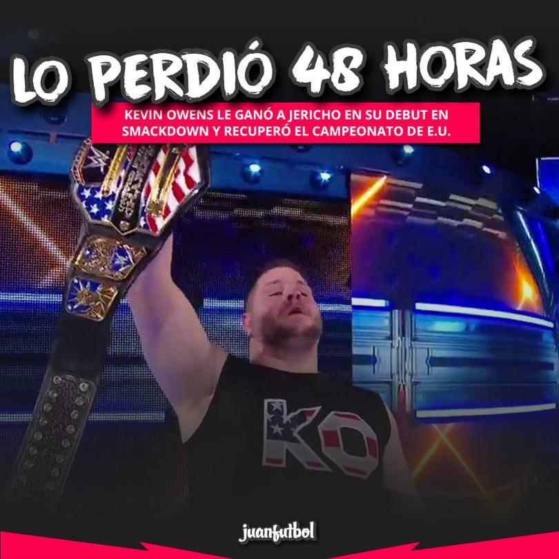 Luego de la pelea, Owens siguió castigando a Jericho