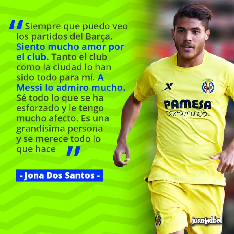 Jona Dos Santos reitera su amor por el Barcelona.