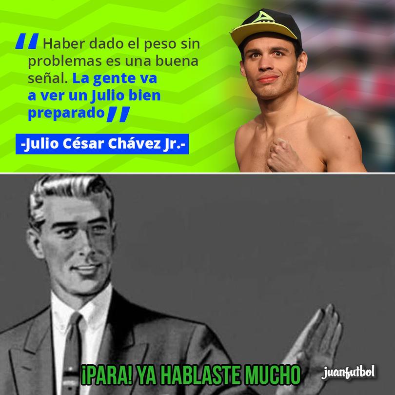 Julio César Chávez Jr. dijo que está muy bien preparado
