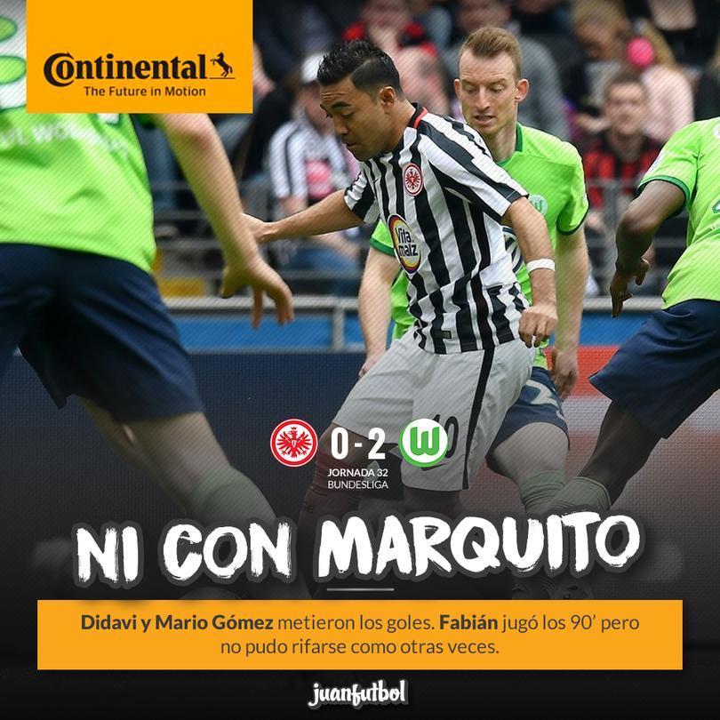 Marquito y el Frankfurt perdió contra el Wolfsburg