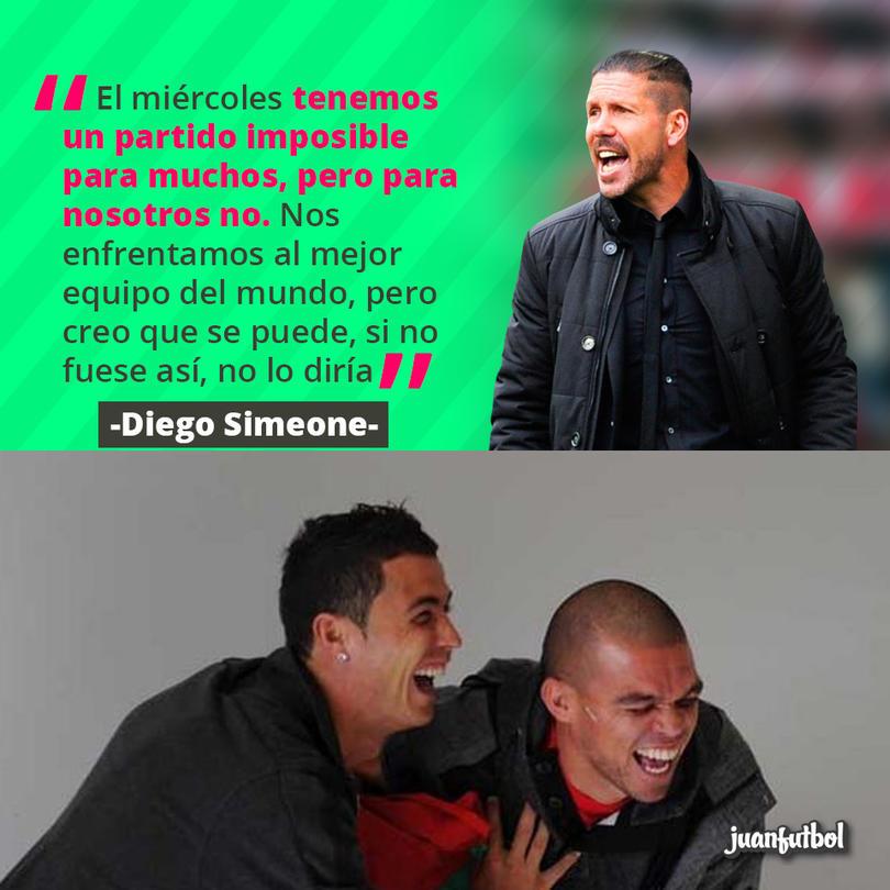 Diego Simeone confía en que el Atlético pueda remontar en Champions