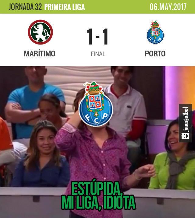 Porto empató con el Marítimo y el Benfica tiene toooodo para dejar casi definida la Liga de Portugal