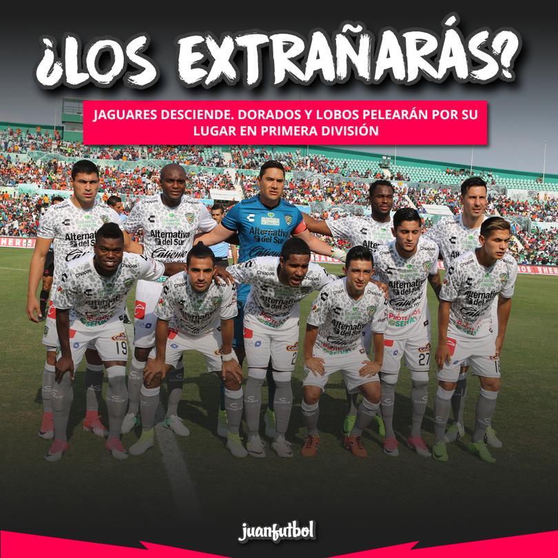 Jaguares desciende, Dorados y Lobos se pelearán su lugar en Primera.
