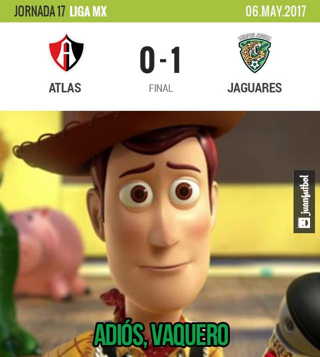 Jaguares venció a Atlas pero no le alcanzó