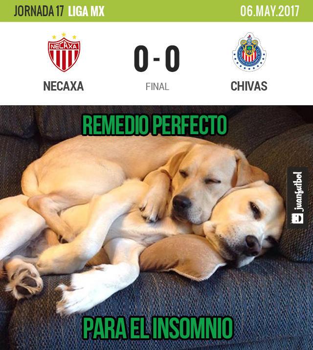 Necaxa y Chivas empataron a ceros