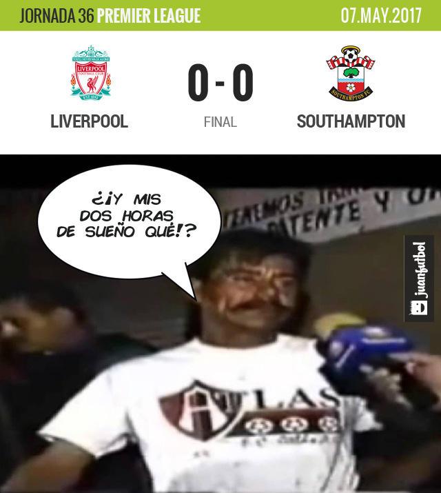 Liverpool falló un penal y pone en peligro el pase directo a Champions
