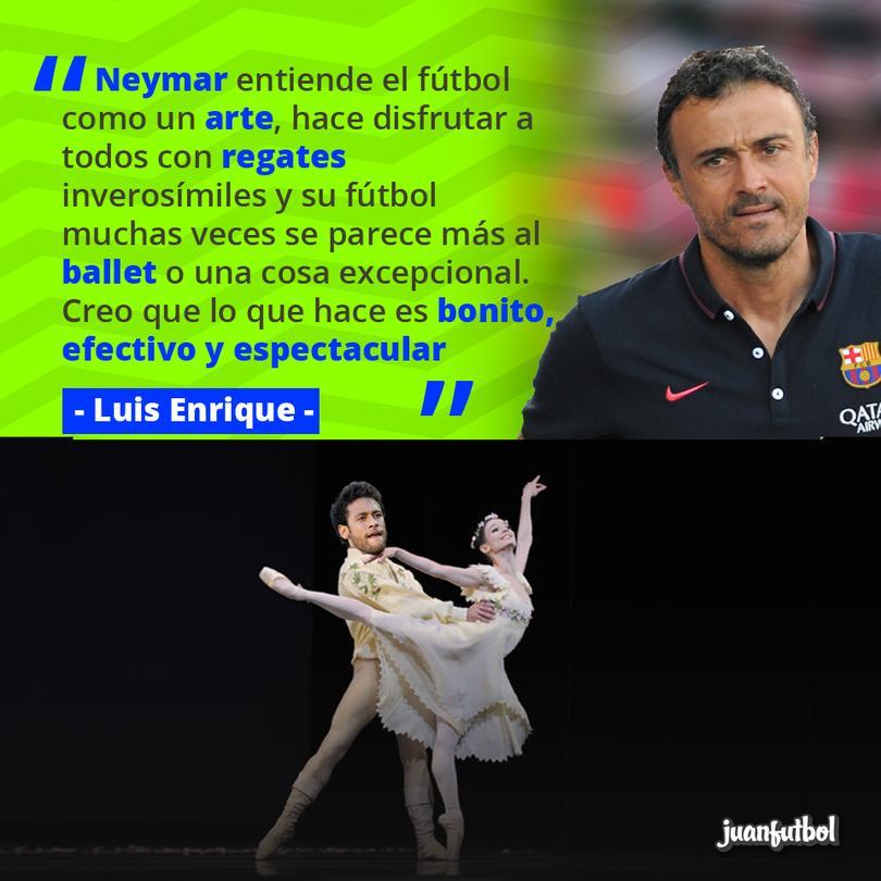 Luis Enrique compara el ballet con el futbol de Neymar
