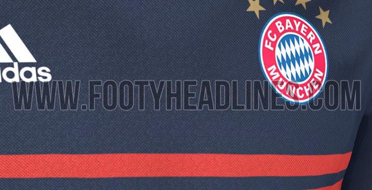 Playera de visita del Bayern para la siguiente temporada