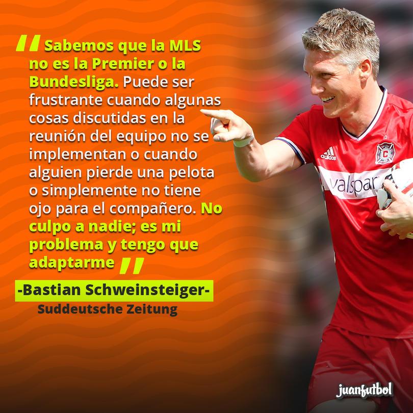 A Schweinsteiger le ha costado la adaptación a la Liga de Estados Unidos