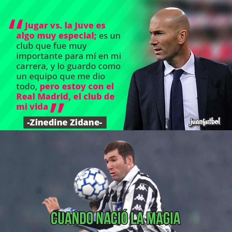Zinedine Zidane no negó que enfrentar a la Juve será especial