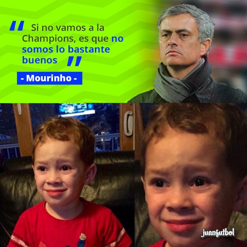 Mourinho afirma que si el Manchester United no va a la Champions es porque no es bastante bueno.