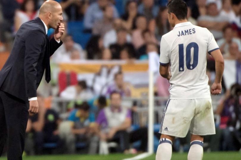 James se ha rifado en el Madrid cuando ha jugado, pero dicen que habría puesto un ultimátum para seguir en el equipo en caso de que Zidane se quede.