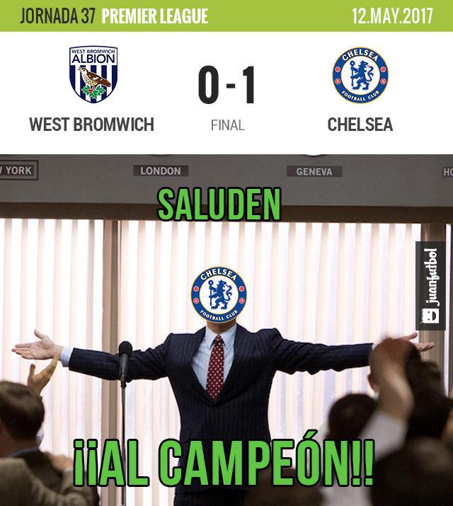 Chelsea venció 1-0 al West Bromwich y es campeón de la Premier