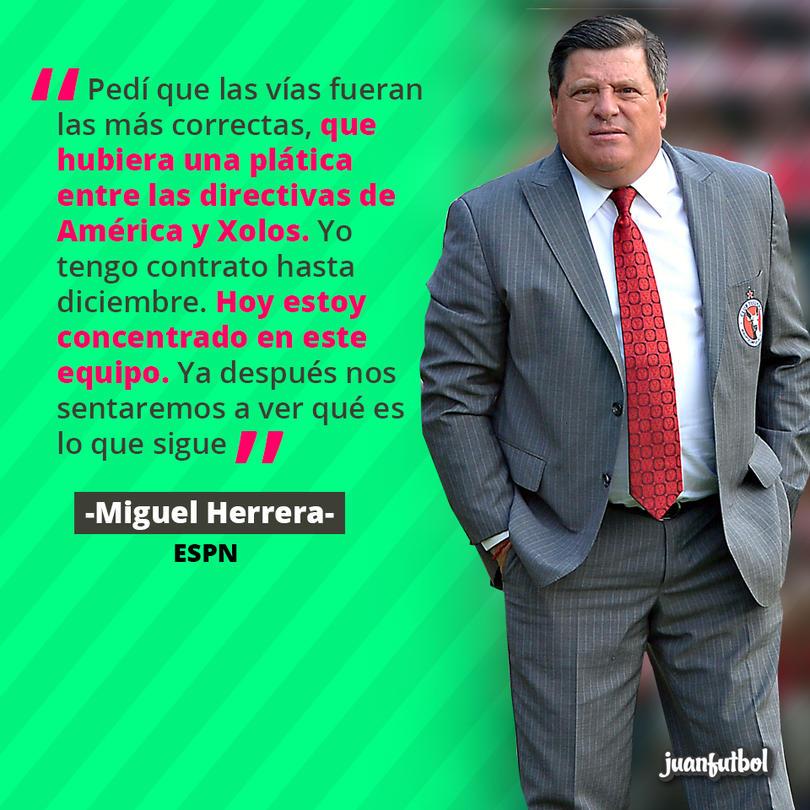 Miguel Herrera dice que las pláticas han sido sólo entre directivas