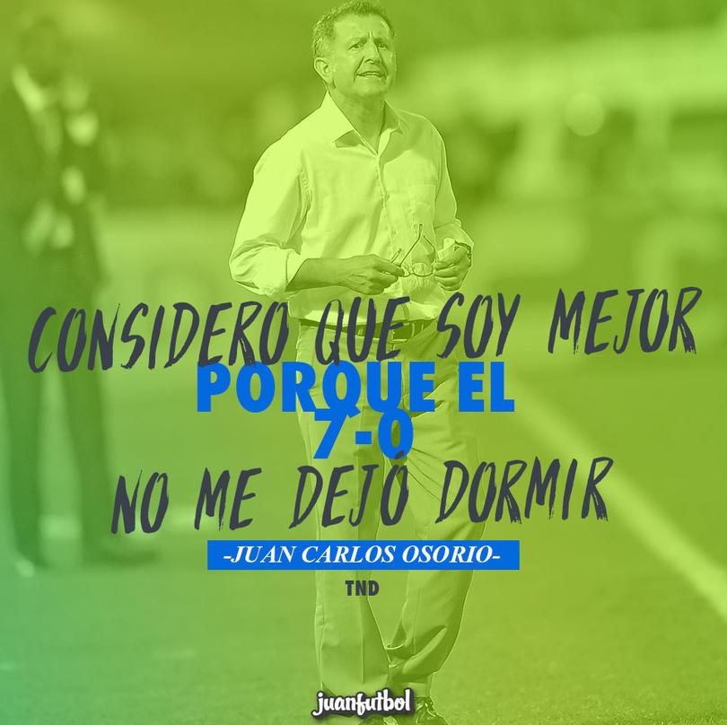 Juan Carlos Osorio después del 7-0