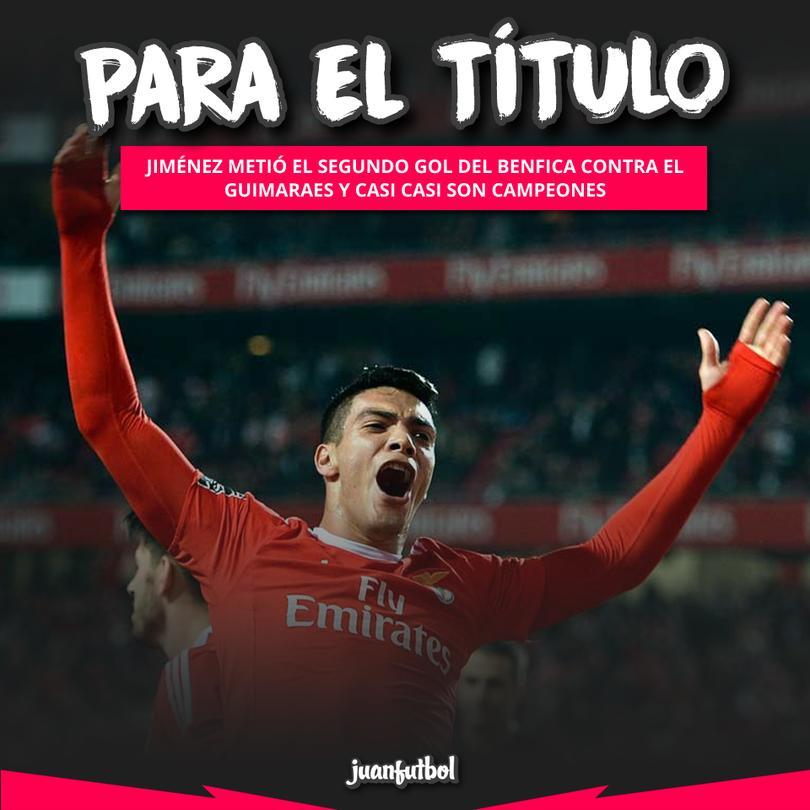 Jiménez anota y tiene al Benfica casi camepón