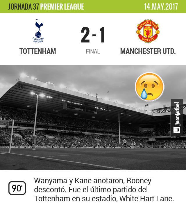 Tottenham gana en la despedida de su estadio