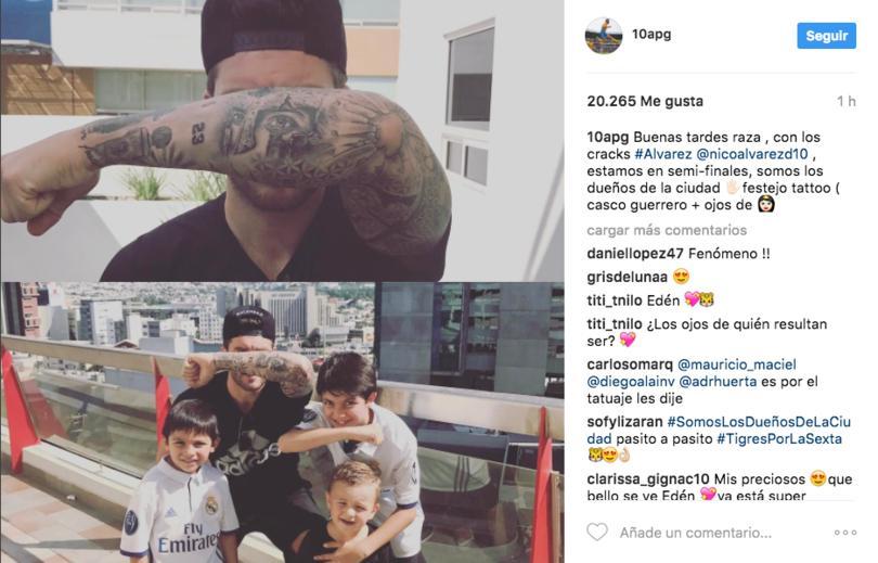 Mostró el tatuaje por el que festejó así sus goles contra Rayados