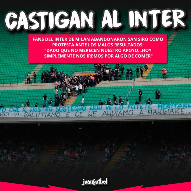 Castigan al Inter.