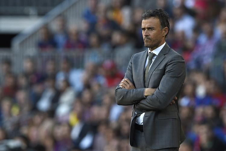Luis Enrique en el Camp Nou