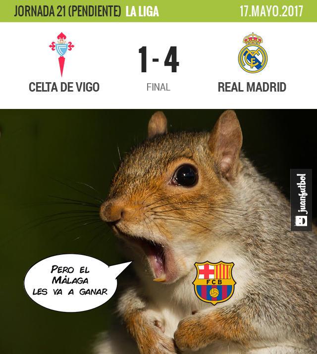 Real Madrid aplastó al Celta de Vigo y es líder a falta de una jornada en La Liga