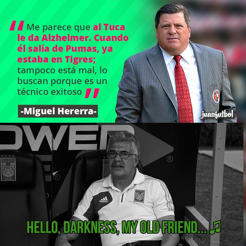 Piojo Herrera siguió dándole duro al Tuca Ferretti