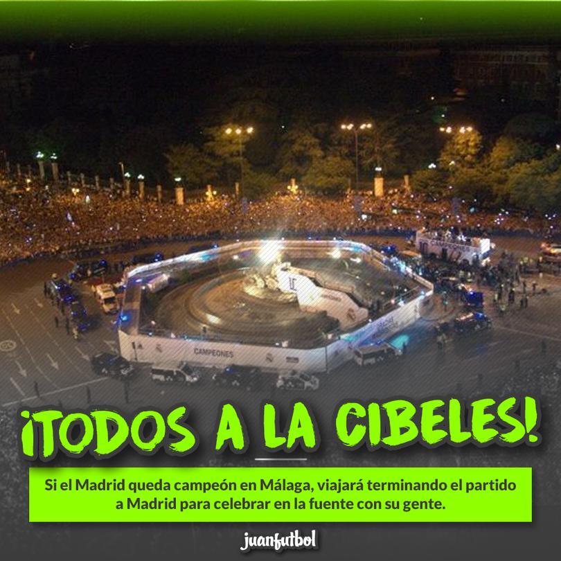 El Madrid celebraría en La Cibeles sí gana La Liga