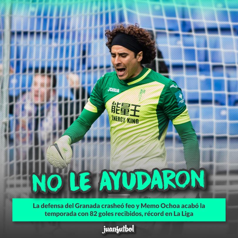 Ochoa terminó recibiendo 82 goles en la Primera División de España esta temporada