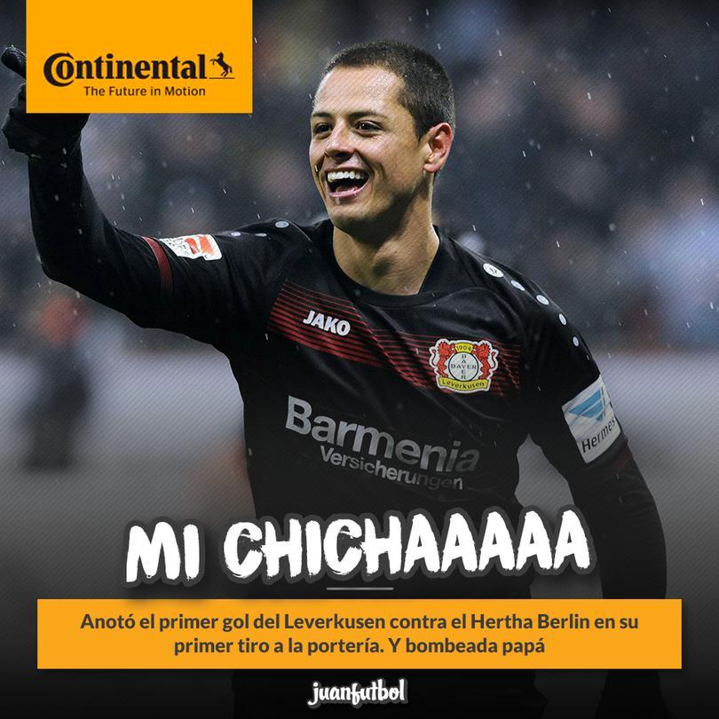 Chicharito volvió al gol