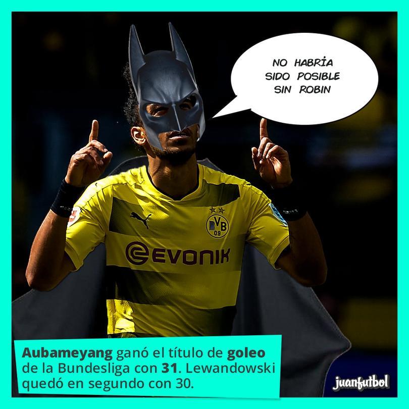 Aubameyang le ganó a Lewandowski