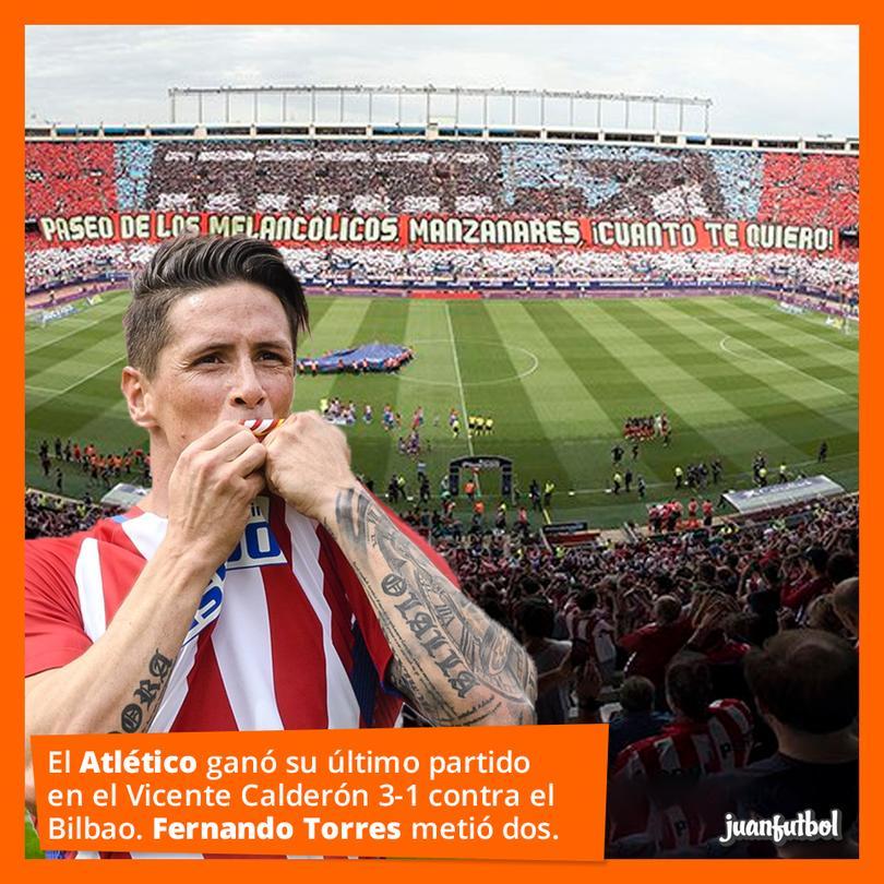 Torres metió doblete en el último partido en el Vicente Calderón