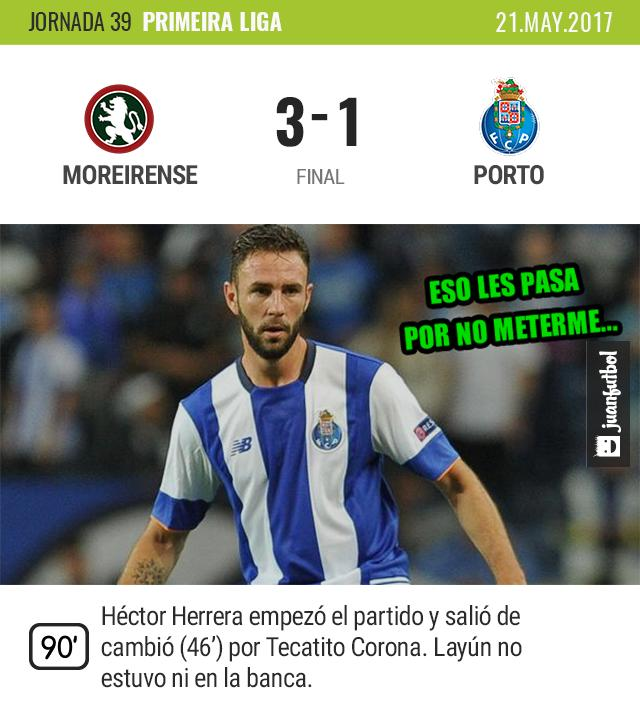 Porto cae ante el Moreirense.