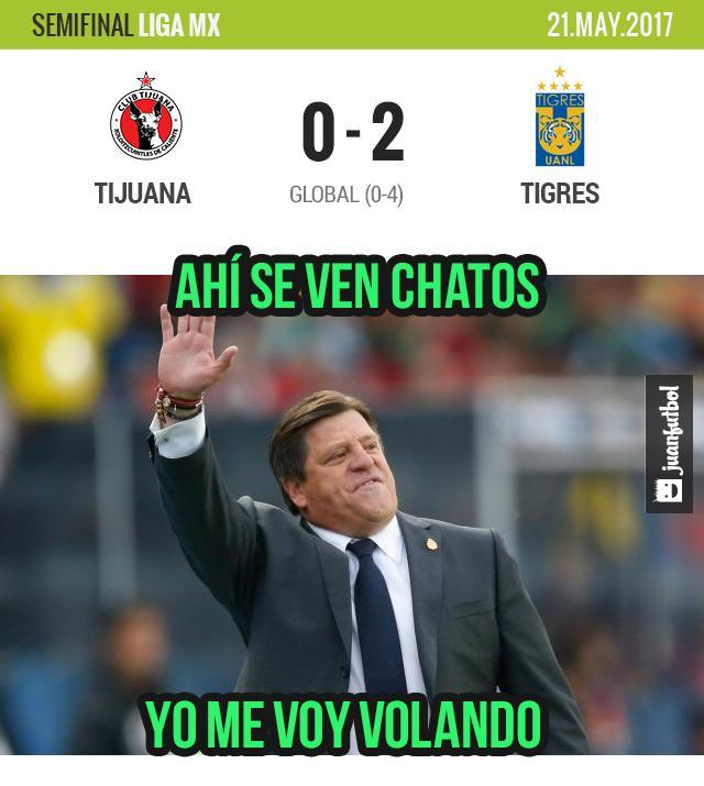 Tigres es el segundo finalista y jugará contra Chivas