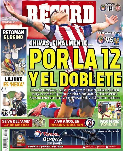 La prensa deportiva más importante del 22 de mayo del 2017.