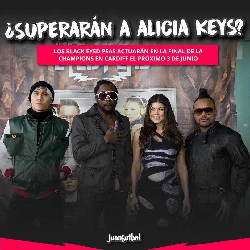 Black Eyed Peas serán los encargados de la final de Cardiff.